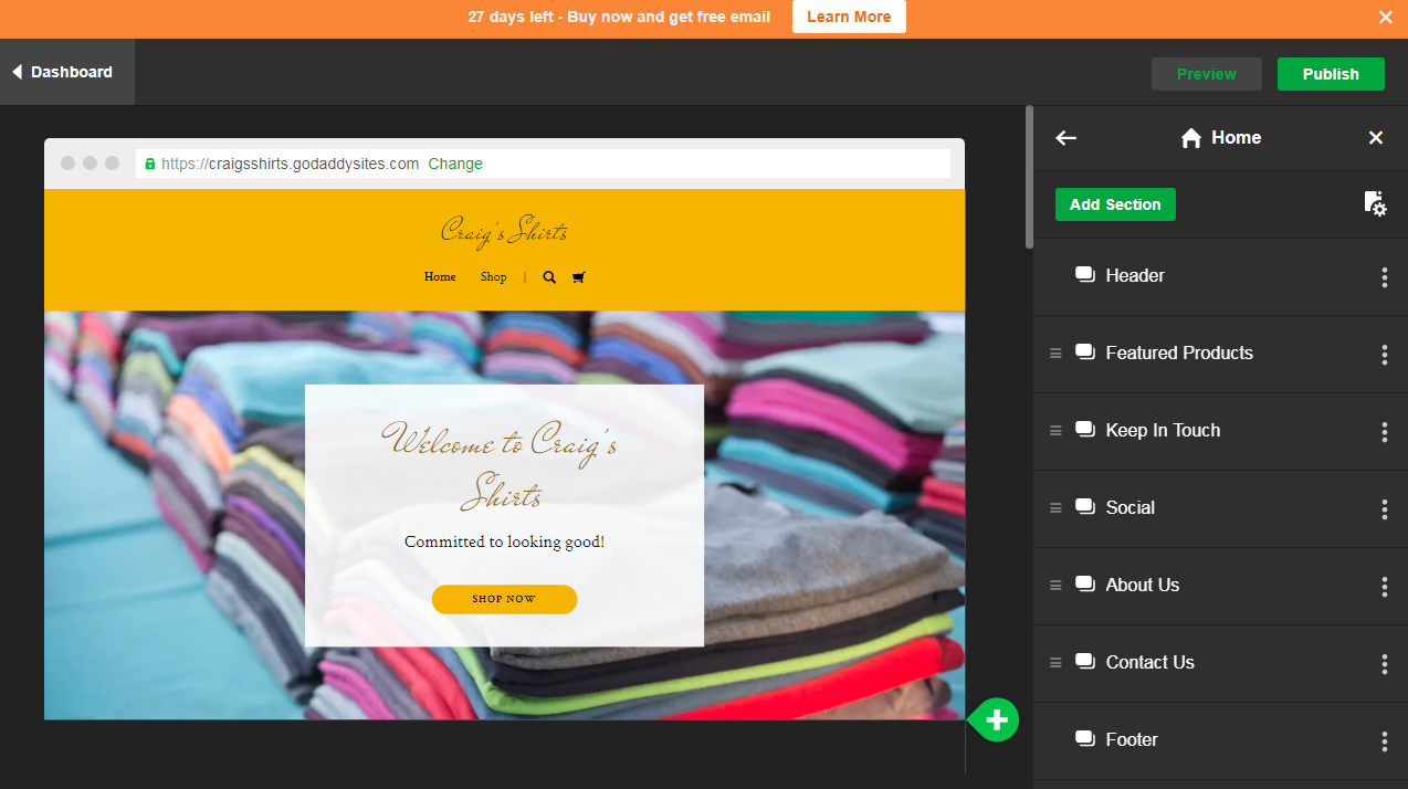 Godaddy review 2018 for Godaddy ecommerce templates